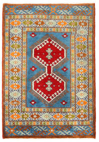 Turkaman Tapis 57X60 D'orient Fait Main Carré Gris Foncé/Beige Foncé (Laine, Perse/Iran)