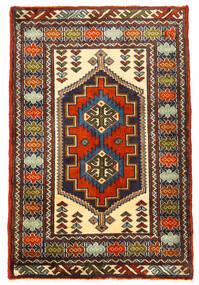 Turkaman Tapis 61X93 D'orient Fait Main Noir/Marron Foncé (Laine, Perse/Iran)