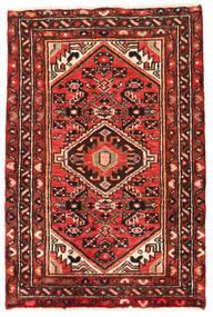 Hosseinabad Tapis 67X100 D'orient Fait Main Rouge Foncé/Rouille/Rouge (Laine, Perse/Iran)