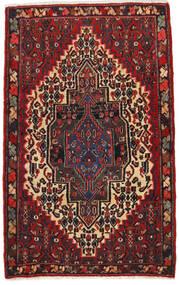 Senneh Tapis 65X105 D'orient Fait Main Rouge Foncé/Noir (Laine, Perse/Iran)