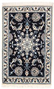 Naïn Tapis 60X94 D'orient Fait Main Bleu Foncé/Beige/Gris Clair (Laine, Perse/Iran)