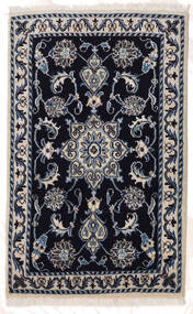 Naïn Tapis 60X95 D'orient Fait Main Violet Foncé/Gris Clair (Laine, Perse/Iran)