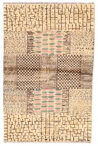 Moroccan Berber - Afghanistan Tapis 100X192 Moderne Fait Main Beige/Marron (Laine, Afghanistan)