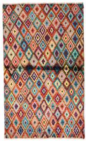 Moroccan Berber - Afghanistan Tapis 85X142 Moderne Fait Main Marron Foncé/Rouille/Rouge (Laine, Afghanistan)