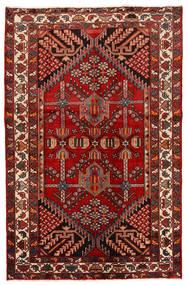 Rudbar Tapis 130X200 D'orient Fait Main Rouge Foncé/Rouille/Rouge (Laine, Perse/Iran)