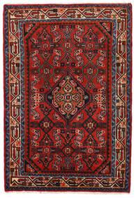 Hamadan Tapis 78X117 D'orient Fait Main Rouille/Rouge/Rouge Foncé/Noir (Laine, Perse/Iran)