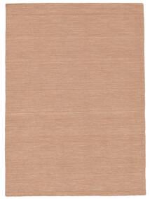 Kilim Loom - Dusty Rose Tapis 160X230 Moderne Tissé À La Main Rouge/Rose Clair (Laine, Inde)
