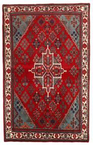Meimeh Tapis 107X169 D'orient Fait Main Rouge/Rouge Foncé/Marron Foncé (Laine, Perse/Iran)