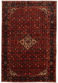 Hosseinabad Tapis 214X315 D'orient Fait Main Rouge Foncé/Rouille/Rouge (Laine, Perse/Iran)