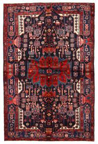 Nahavand Tapis 162X244 D'orient Fait Main Violet Foncé/Rouge Foncé (Laine, Perse/Iran)