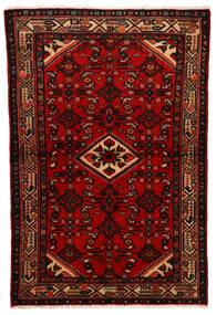 Hosseinabad Tapis 100X154 D'orient Fait Main Rouge Foncé/Rouille/Rouge (Laine, Perse/Iran)