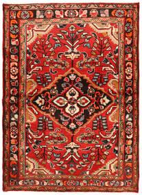Hosseinabad Tapis 112X157 D'orient Fait Main Rouge Foncé/Rouille/Rouge (Laine, Perse/Iran)