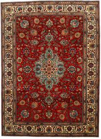 Tabriz Tapis 217X302 D'orient Fait Main Marron Foncé/Rouge Foncé (Laine, Perse/Iran)