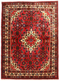 Hosseinabad Tapis 108X148 D'orient Fait Main Rouge Foncé/Rouille/Rouge (Laine, Perse/Iran)