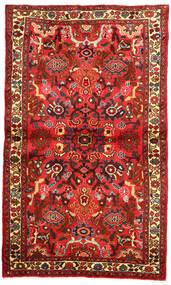 Hosseinabad Tapis 96X163 D'orient Fait Main Rouge Foncé/Rouge (Laine, Perse/Iran)