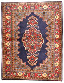 Golpayegan Tapis 112X147 D'orient Fait Main Violet Foncé/Gris Foncé (Laine, Perse/Iran)
