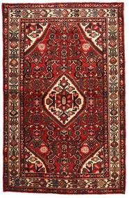 Hosseinabad Tapis 106X165 D'orient Fait Main Rouge Foncé/Beige (Laine, Perse/Iran)