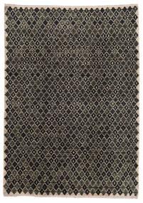 Moroccan Berber - Afghanistan Tapis 202X286 Moderne Fait Main Gris Foncé/Gris Clair (Laine, Afghanistan)