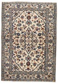 Kashan Tapis 103X146 D'orient Fait Main Beige/Noir/Gris Clair (Laine, Perse/Iran)