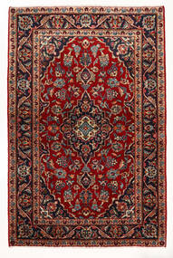 Kashan Tapis 97X147 D'orient Fait Main Rouge Foncé/Beige (Laine, Perse/Iran)
