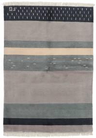 Gabbeh Indo Tapis 141X197 Moderne Fait Main Gris Clair/Gris Foncé (Laine, Inde)
