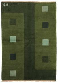 Gabbeh Indo Tapis 139X199 Moderne Fait Main Vert Foncé (Laine, Inde)