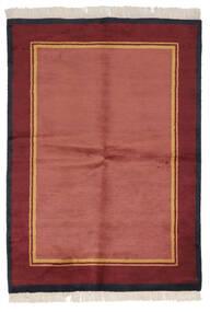 Gabbeh Indo Tapis 137X196 Moderne Fait Main Rouge/Rouge Foncé (Laine, Inde)