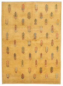 Gabbeh Persan Tapis 145X203 Moderne Fait Main Marron Clair/Jaune (Laine, Perse/Iran)