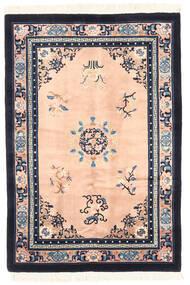 Chinois Finition Antique Tapis 122X183 D'orient Fait Main Gris Foncé/Rose Clair (Laine, Chine)