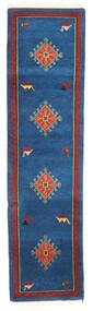 Gabbeh Indo Tapis 80X303 Moderne Fait Main Tapis Couloir Bleu Foncé/Noir (Laine, Inde)