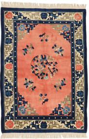 Chinois Finition Antique Tapis 125X182 D'orient Fait Main Orange/Bleu Foncé (Laine, Chine)