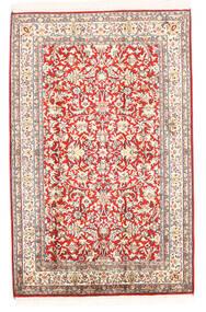 Cachemire Pure Soie Tapis 78X121 D'orient Fait Main Beige (Soie, Inde)