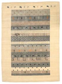Loribaf Loom Tapis 174X241 Moderne Fait Main Beige/Gris Clair (Laine, Inde)