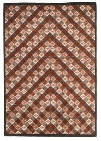 Gabbeh Loribaft Tapis 169X245 Moderne Fait Main Marron Foncé/Rouge Foncé (Laine, Inde)
