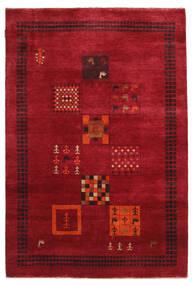 Gabbeh Loribaft Tapis 145X215 Moderne Fait Main Rouge/Rouge Foncé (Laine, Inde)