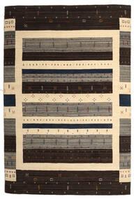 Loribaf Loom Tapis 203X304 Moderne Fait Main Marron Foncé/Beige (Laine, Inde)