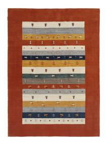 Loribaf Loom Tapis 167X233 Moderne Fait Main Rouge Foncé/Beige (Laine, Inde)