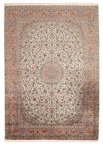 Cachemire Pure Soie Tapis 216X313 D'orient Fait Main Marron Foncé/Beige (Soie, Inde)