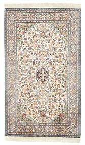 Cachemire Pure Soie Tapis 77X131 D'orient Fait Main Beige/Noir (Soie, Inde)