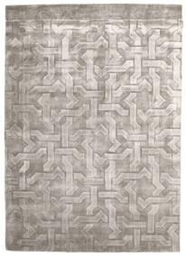 Viscose Moderne Tapis 170X241 Moderne Fait Main Gris Foncé/Gris Clair ( Inde)