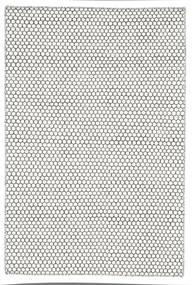Kilim Honey Comb - Cream/Noir Tapis 120X180 Moderne Tissé À La Main Gris Clair/Beige (Laine, Inde)