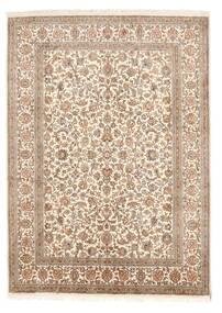 Cachemire Pure Soie Tapis 158X219 D'orient Fait Main Marron/Marron Clair (Soie, Inde)
