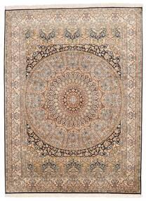 Cachemire Pure Soie Tapis 155X207 D'orient Fait Main Marron/Marron Foncé (Soie, Inde)