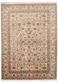 Cachemire Pure Soie Tapis 157X216 D'orient Fait Main Marron/Beige (Soie, Inde)