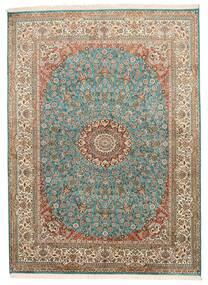 Cachemire Pure Soie Tapis 159X218 D'orient Fait Main Marron/Gris Foncé (Soie, Inde)