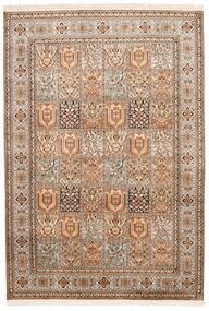 Cachemire Pure Soie Tapis 172X248 D'orient Fait Main Marron/Marron Foncé (Soie, Inde)