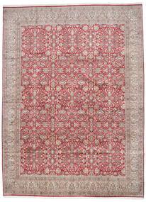 Cachemire Pure Soie Tapis 296X403 D'orient Fait Main Gris Clair/Rouille/Rouge Grand (Soie, Inde)