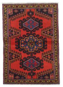 Wiss Tapis 106X153 D'orient Fait Main Rouge Foncé/Marron Foncé/Rouille/Rouge (Laine, Perse/Iran)