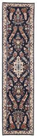 Sarough Tapis 72X293 D'orient Fait Main Tapis Couloir Violet Foncé/Marron Foncé (Laine, Perse/Iran)