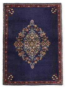 Kashan Tapis 68X96 D'orient Fait Main Violet Foncé/Marron Foncé (Laine, Perse/Iran)